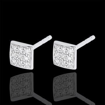 Boucles d'oreilles Kléa - or blanc 18 carats