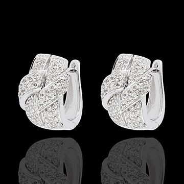boucles d'oreilles lien suprême - or blanc 18 carats