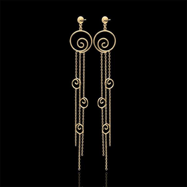 Boucles d'oreilles Matsuri - or jaune 9 carats