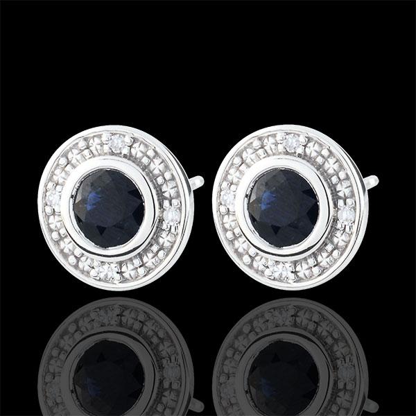 Boucles d'oreilles Minuit étoilé - or blanc 9 carats
