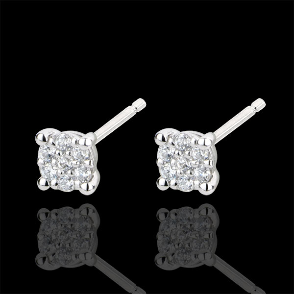 Boucles d'oreilles Myriade d'étoiles - or blanc 18 carats