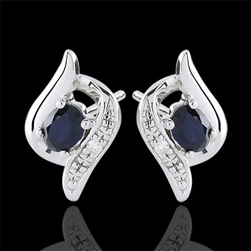 Boucles d'oreilles Nazumi - or blanc 9 carats