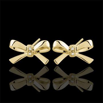 Boucles d'oreilles Noeuds Carlotta - or jaune 9 carats