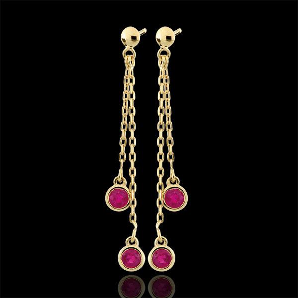 Boucles d'oreilles pendantes Ortega - or jaune 9 carats