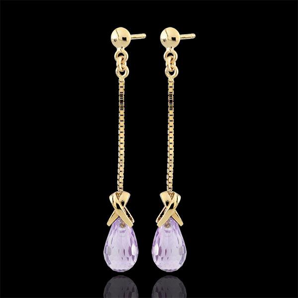 Boucles d'oreilles pendantes Violine - or jaune 9 carats