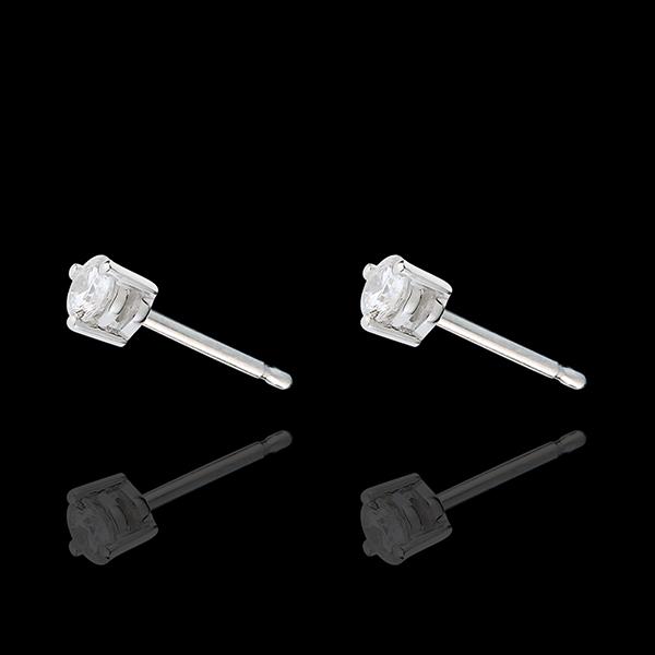 boucles d'oreilles puces diamant or blanc 18 carats Joya