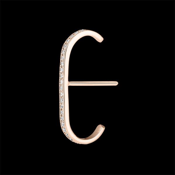 Boucles d'oreilles Puces pavées Fraîcheur - Ellis - or rose 9 carats et diamants