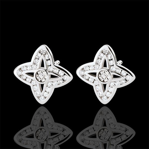 Boucles d'oreilles Tala - or blanc 9 carats
