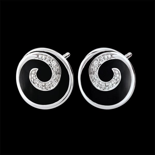 Boucles d'oreilles Tiphon précieux - or blanc 9 carats