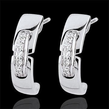 Boucles d'oreilles Union éternelle - or blanc 9 carats