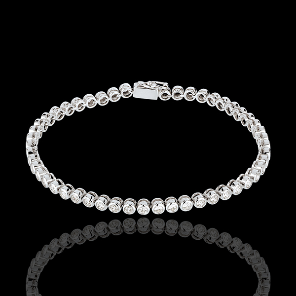 Boulier diamond bracelet-white gold - 2 carat - 52 diamonds