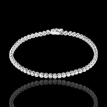 Bracciale Pallottoliere diamanti - Oro bianco - 18 carati - 60 diamanti - 1.15 carati