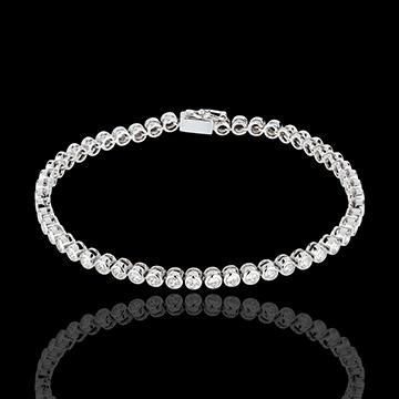 Bracciale Pallottoliere diamanti - Oro bianco - 18 carati - 52 Diamanti - 2 carati