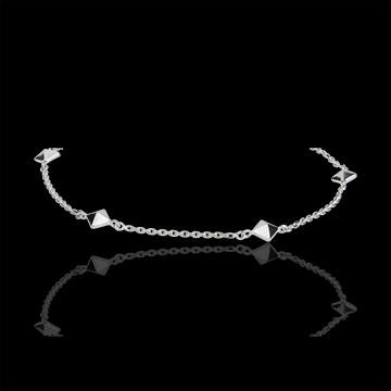 Bracciale Genesi - Diamanti grezzi - Oro bianco - 9 carati - Diamanti