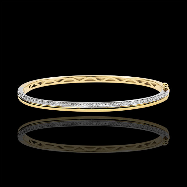 Bracciale Eleganza - Oro giallo, Oro bianco e Diamanti - 18 carati