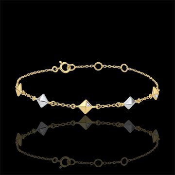 Bracciale Genesi - Diamanti grezzi - 2 Ori - 9 carati -5 motivi - Diamanti