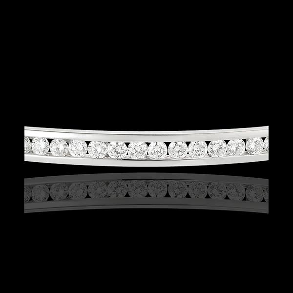 Bracciale giunco Costellazione - Astrale - 1 fila di Diamanti - 1.24 carati - 21 Diamanti