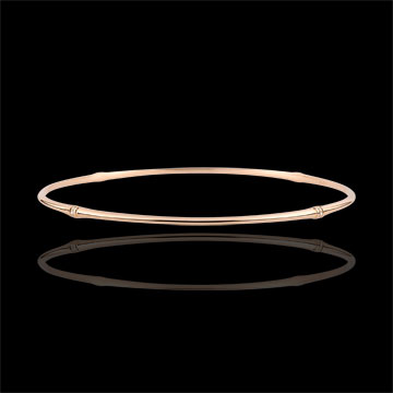 Bracciale Giunco Giungla Sacra - diamanti - oro rosa 9 carati