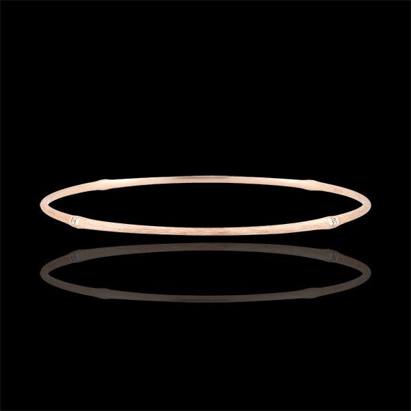 Bracciale Giunco Giungla Sacra - diamanti - oro rosa spazzolato 18 carati