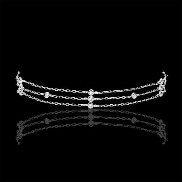 Bracciale Grazia - Oro bianco- 18 carati - 13 Diamanti