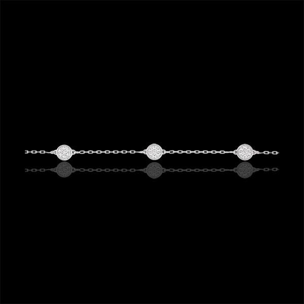 Bracciale - Miriade di stelle - Oro Bianco - 9 carati - 4 Diamanti