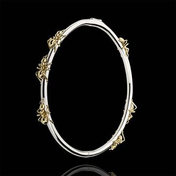 Bracciale Passeggiata Immaginaria - Il Ballo delle Formiche - Oro bianco e Oro giallo - 18 carati