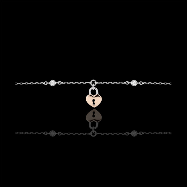 Bracciale Prezioso Segreto - Cuore - Oro rosa - 9 carati