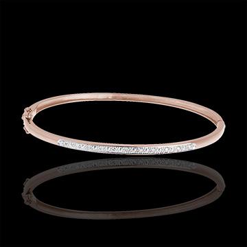 Bracciale rigido Diorama - Oro rosa - 18 carati - 11 Diamanti - carati 0.1