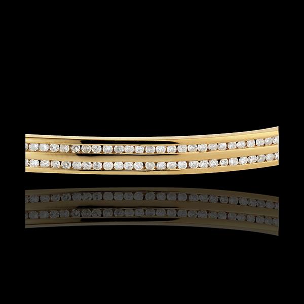 Bracciale rigido Orione - Oro Giallo - 18 carati - 98 Diamanti - 0.68 carati