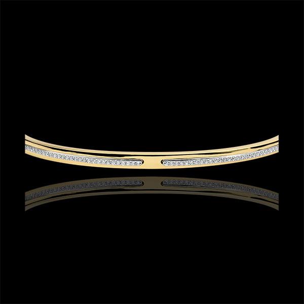 Bracciale Rigido Promessa - Oro giallo e Diamanti - 9 carati