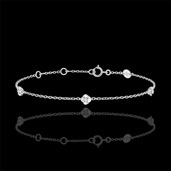 Bracciale Sboccio - Corona di Rose - diamanti - oro bianco 18 carati