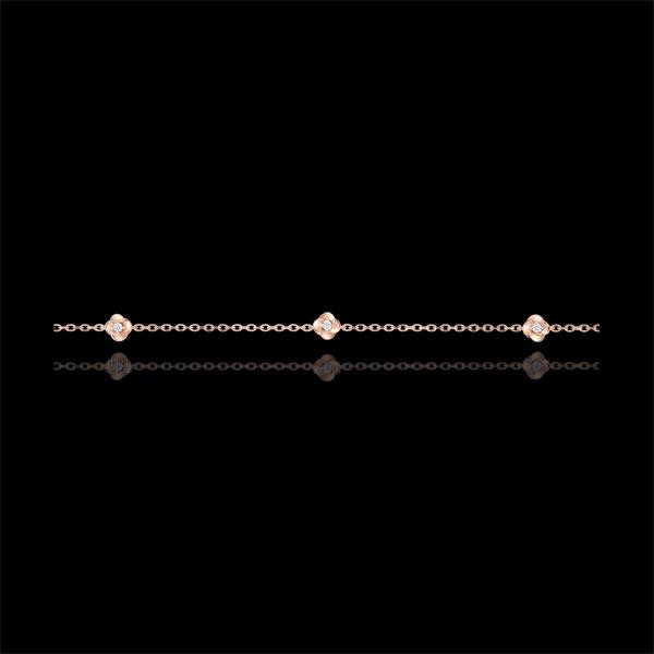 Bracciale Sboccio - Corona di Rose - diamanti - oro rosa 9 carati