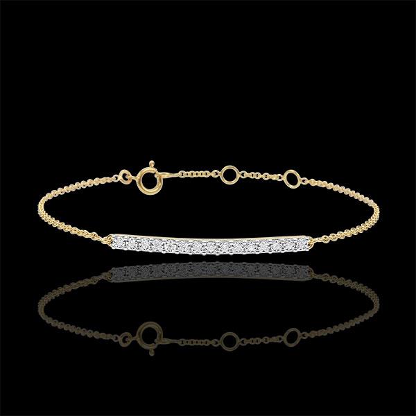 Bracciale Scintillante - Oro giallo - 9 carati - 15 Diamanti