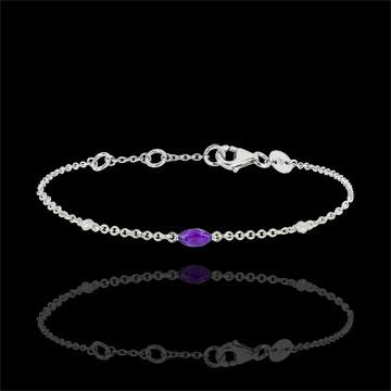 Bracciale Sguardo d'Oriente - ametista e diamanti - oro bianco 9 carati