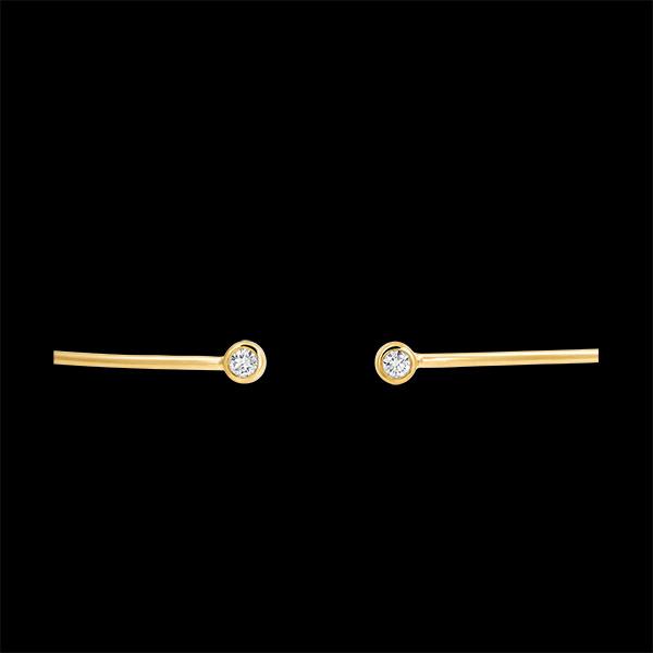 Braccialetto Rigido Aperto Freschezza - Tu ed Io - oro giallo 9 carati e diamanti