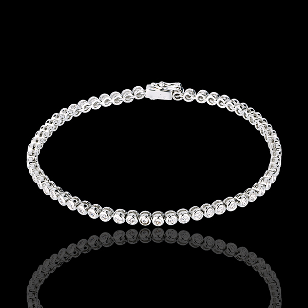 Bracelet Boulier diamants - or blanc 18 carats - 1.15 carats - 60 diamants
