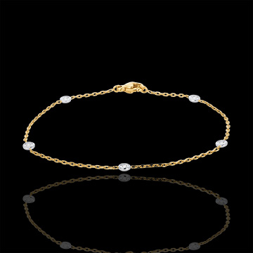 Bracelet Constellation deux ors et diamants - or blanc et or jaune 18 carats