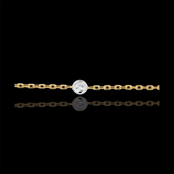 Bracelet Constellation deux ors et diamants - or blanc et or jaune 18 carats