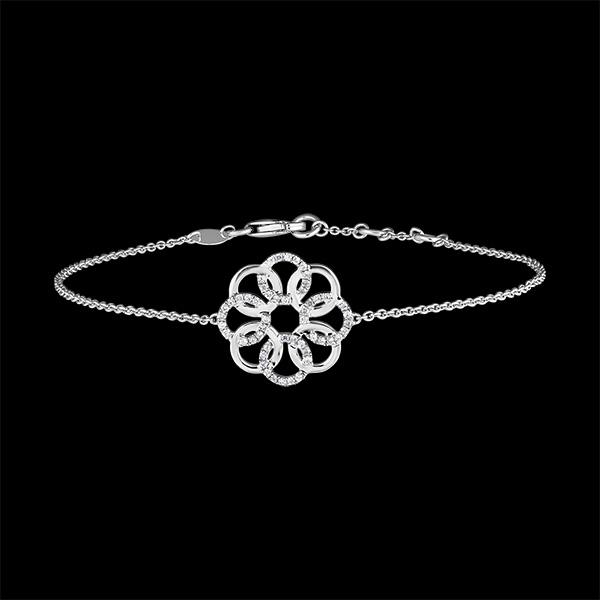 Bracelet Destinée - Arabesque - or blanc 9 carats et diamants