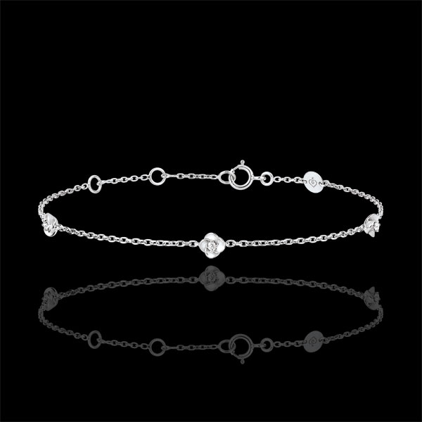 Bracelet Eclosion - Couronne de Roses - diamants - or blanc 18 carats