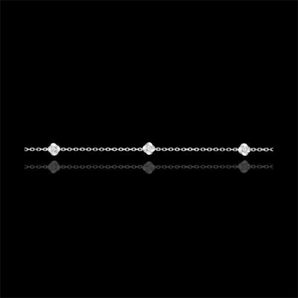Bracelet Eclosion - Couronne de Roses - diamants - or blanc 9 carats