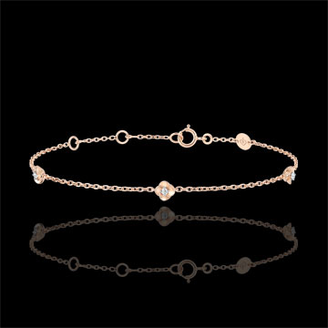Bracelet Eclosion - Couronne de Roses - diamants - or rose 9 carats