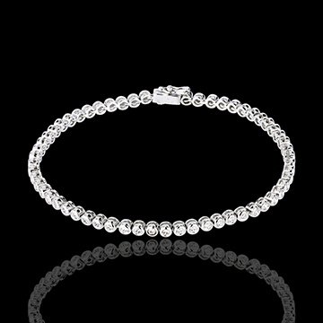 Bracelet Boulier diamants , or blanc 18 carats , 1.15 carats , 60 diamants