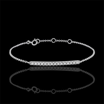 Bracelet or blanc 9 carats Scintillant - 15 diamants