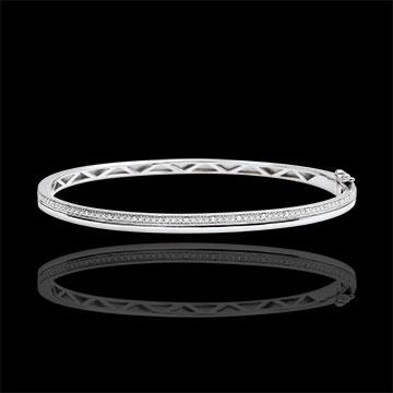 Bracelet Elégance - or blanc 9 carats et diamants
