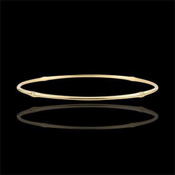 Bracelet Jonc Jungle Sacrée - diamants - or jaune 9 carats