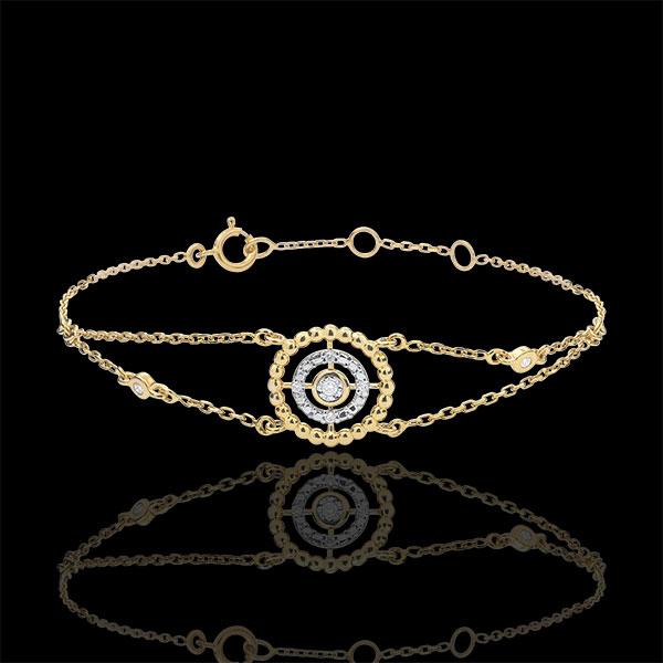 Bracelet Fleur de Sel - cercle - or jaune 18 carats et diamants