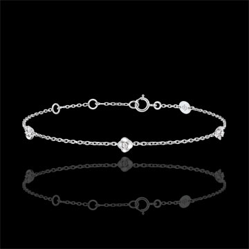 Eclosion Bracelet - Roses Crown - diamonds - 9 carat white gold