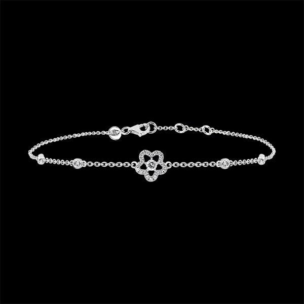 Bracelet Fraicheur - Anémone- or blanc 18 carats et diamants