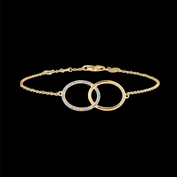 Bracelet Fraîcheur - Double Firmament - or jaune 18 carats et diamants